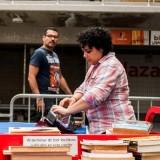 La familia puede disfrutar de un intercambio de libros en Los Palos Grandes