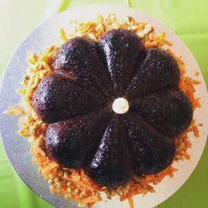 Así queda la torta de zanahoria, libre de gluten y azúcar, que hacen en Sabrosito Foto: EDB