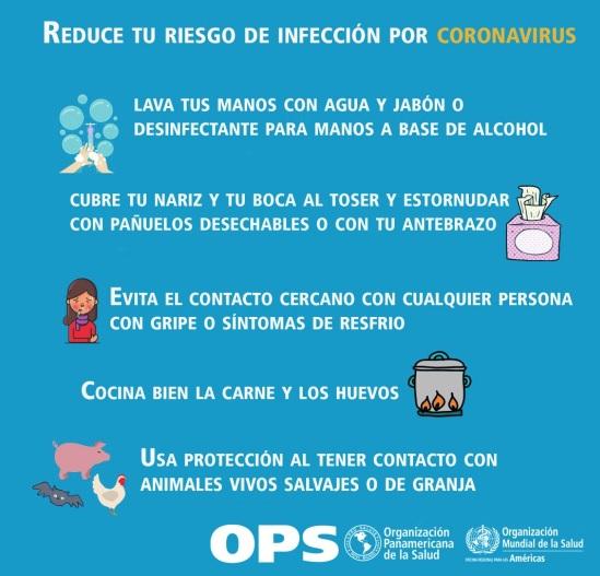 Normas que deben cumplirse para evitar el coronavirus