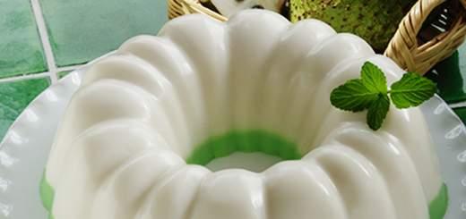 La gelatina de guanábana es dulce y nutritiva