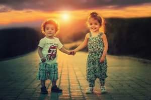 Los niños bien cuidados son felices